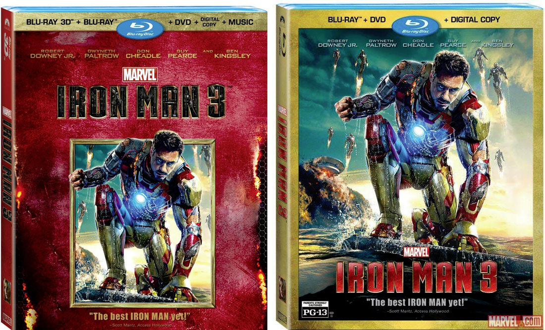 MARVEL'S IRON MAN 3- BONUS FEATURES BLAST ON TO THE SCENE