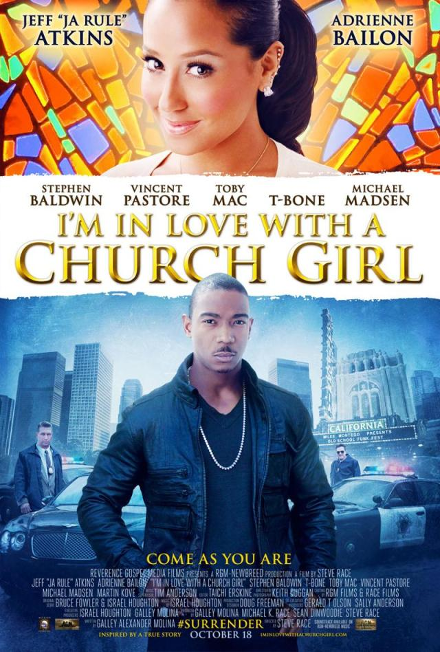 in love with a church girl poster