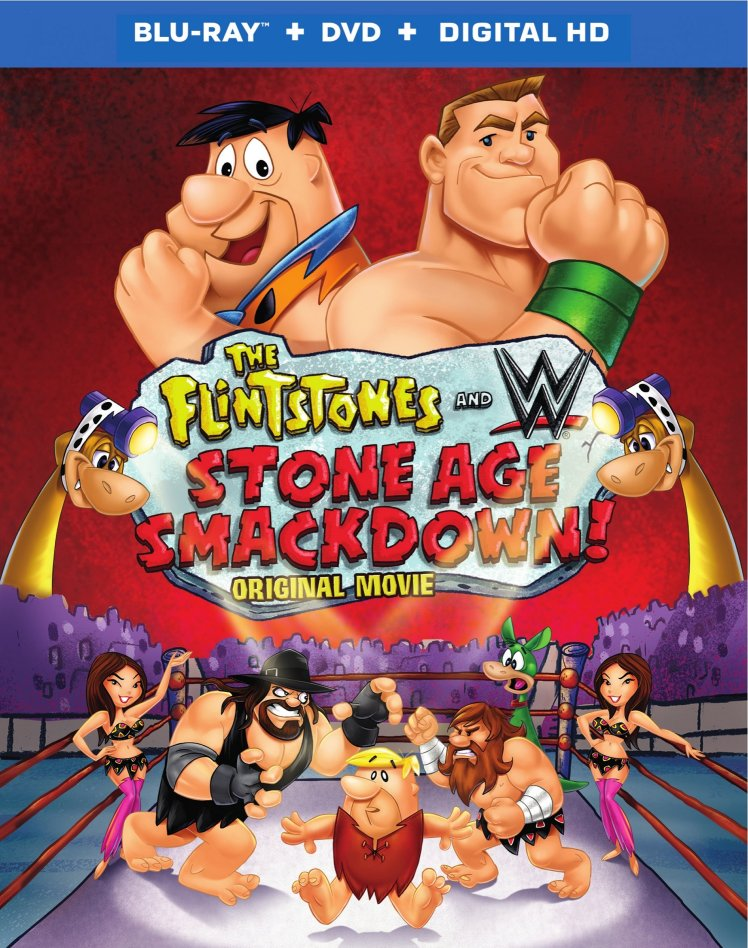 Warner Bros & WWE The Flintstones & WWE Announce Stone Age Smackdown Box Art 2D