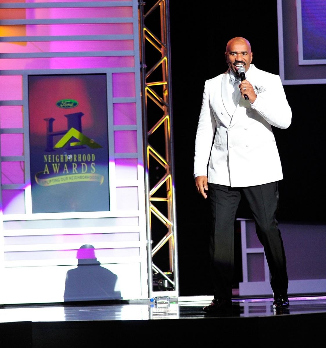 entertainer Steve Harvey announces the 13th Annual Neighborhood Awards