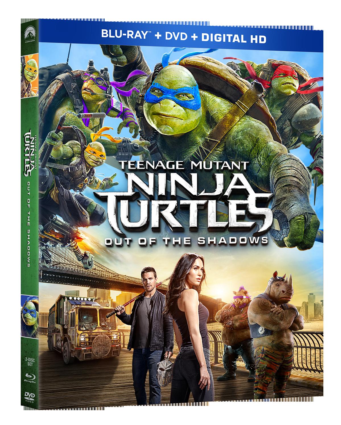 teenage mutant ninja turtles out of the shadows arrives on blu ray