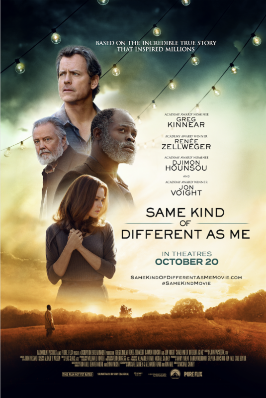 same kind of different as me Greg kinnear and djimon hounsou round out the cast of occasionally affecting homelessness drama.